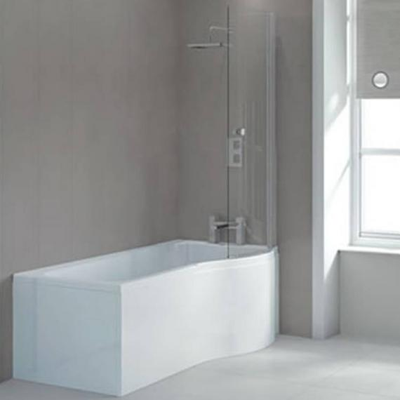 Sommer P Shaped 1700mm Shower Bath & Screen