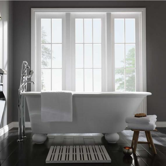 Imperial Stanlake Cian Single Ended Freestanding Bath With White Ball Feet
