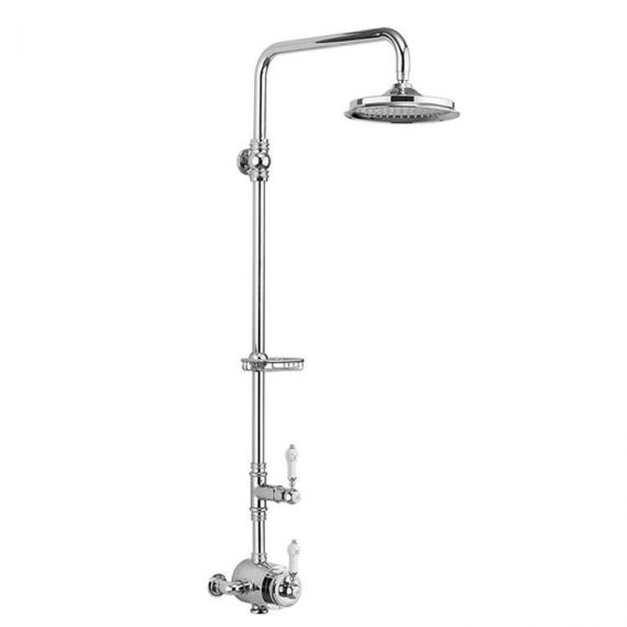 Burlington Stour Exposed Shower Valve, Rigid Riser, Shower Rose and Soap Basket