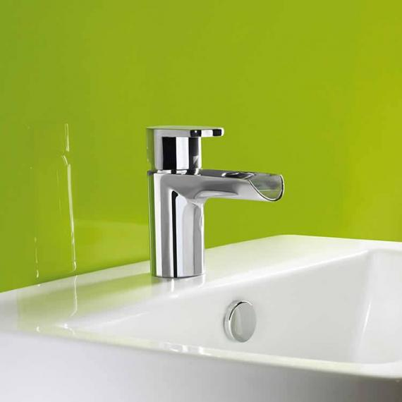 Roper Rhodes Stream Open Spout Basin Mixer With Click Waste