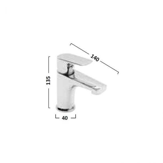 Tavistock Strike Mini Basin Mixer With Click Waste - Spec
