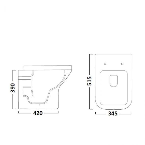 Tavistock Structure Back To Wall WC & Seat - Spec