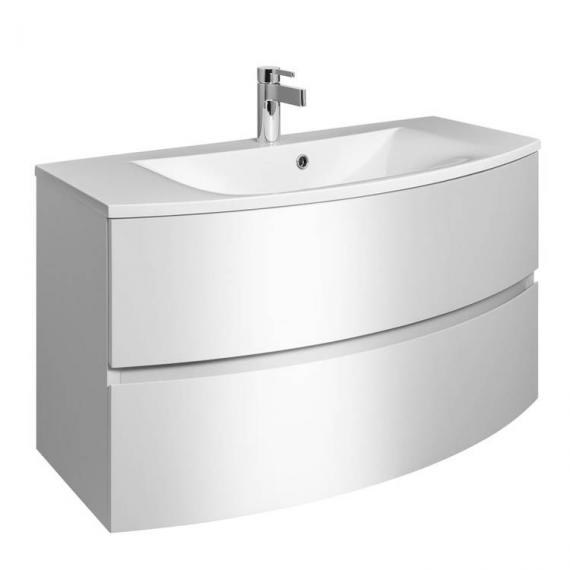 Bauhaus Svelte 100 White Gloss Vanity Unit & Basin