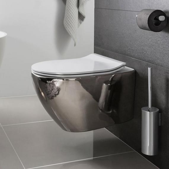 Bauhaus Svelte Platinum Wall Hung WC & Soft Closing Seat