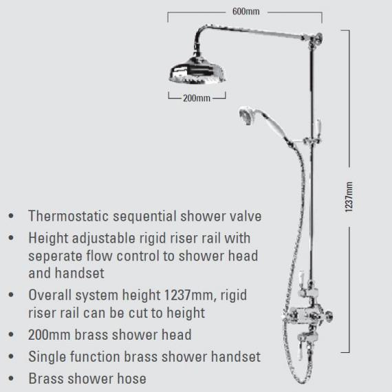 Roper Rhodes Henley Dual Function Exposed Shower System - Spec