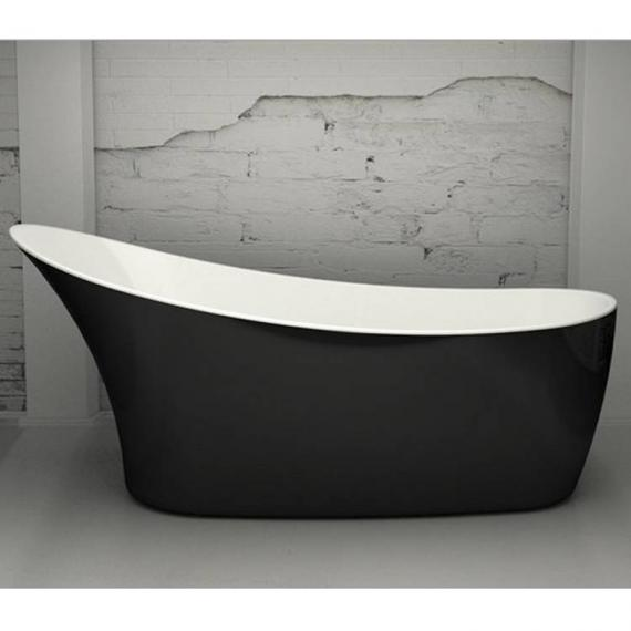 Charlotte Edwards Swanley Black 1600mm Freestanding Bath