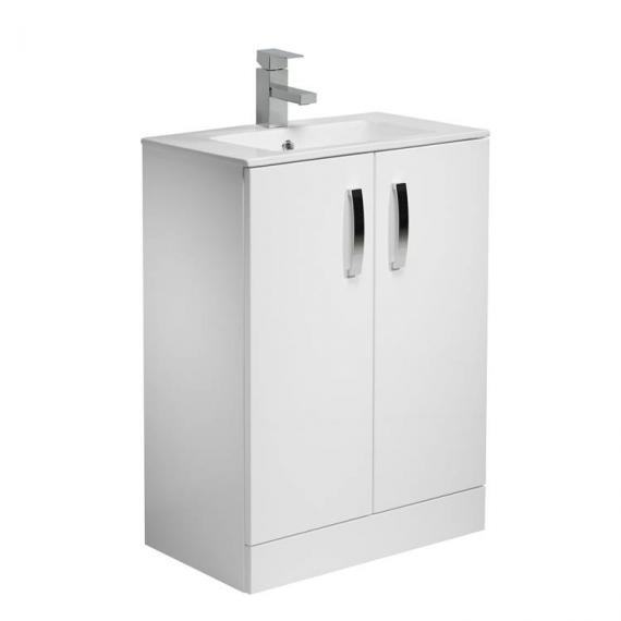 Tavistock Swift Gloss White 600mm Freestanding Unit & Basin