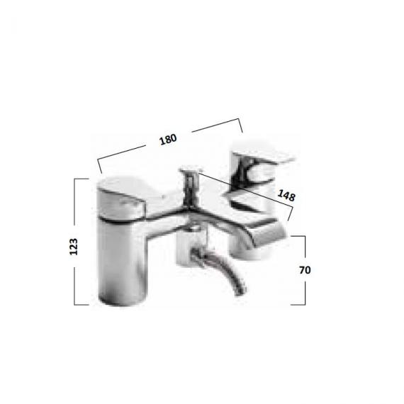 Tavistock Blaze Bath Shower Mixer With Handset - Spec