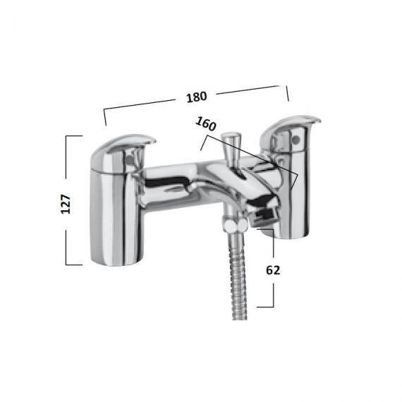 Tavistock Cruz Bath Shower Mixer With Handset - Spec