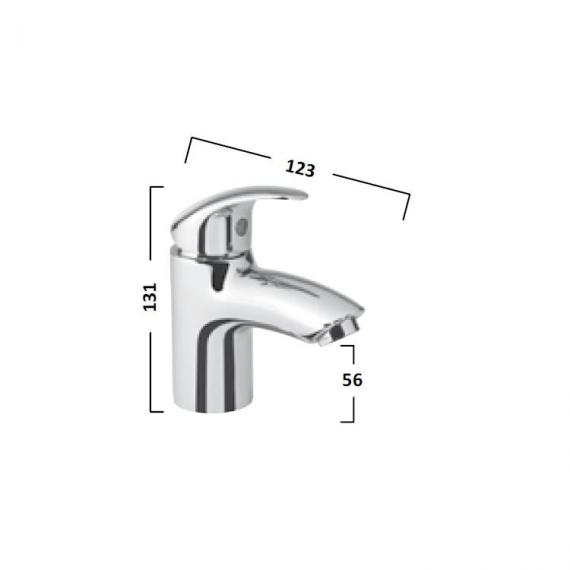 Tavistock Cruz Mini Basin Mixer - Spec