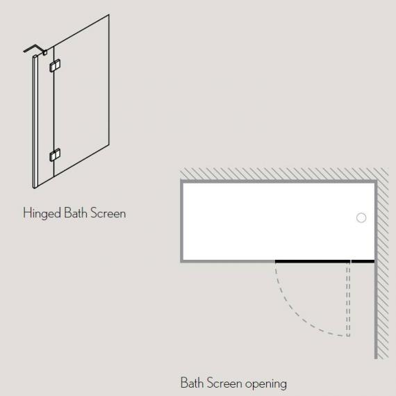 Simpsons Ten Hinged Bath Screen Specification