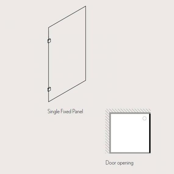 Simpsons Ten Single Fixed Walk In Glass Shower Panel Specification