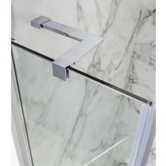 Simpsons Ten Hinged Shower Door With Inline Panel Detail