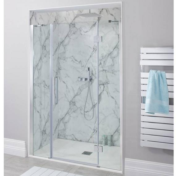 Simpsons Ten Hinged Shower Door With Inline Panel - Recess Only
