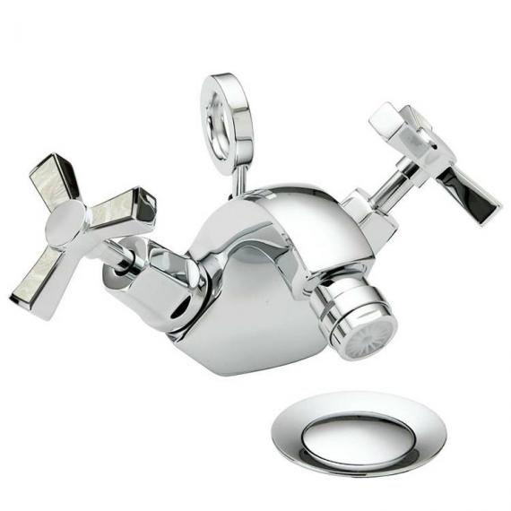 Heritage Gracechurch Mother Of Pearl 1 Tap Hole Bidet Mixer