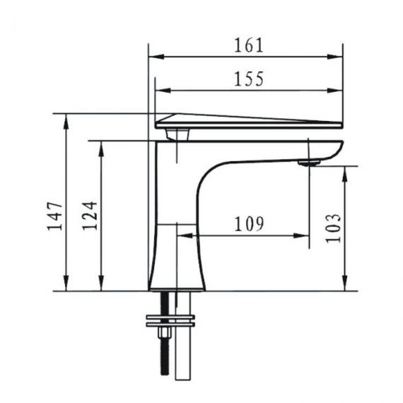 Heritage Hemsby 1 Tap Hole Basin Mixer Specification