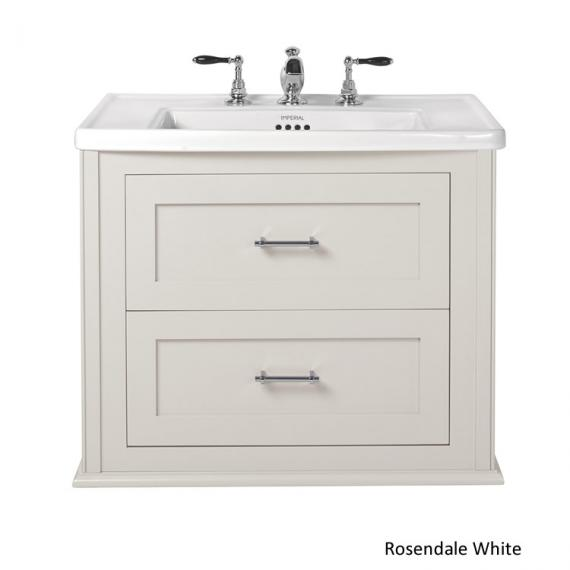 Imperial Radcliffe Thurlestone Rosendale White Wall Hung Vanity Unit