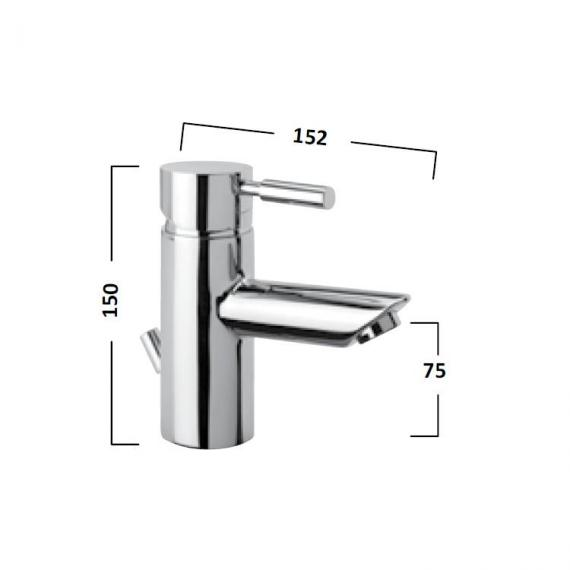 Tavistock Kinetic Basin Mixer - Spec