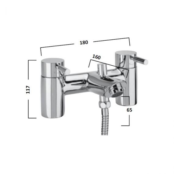 Tavistock Kinetic Bath Shower Mixer With Handset - Spec