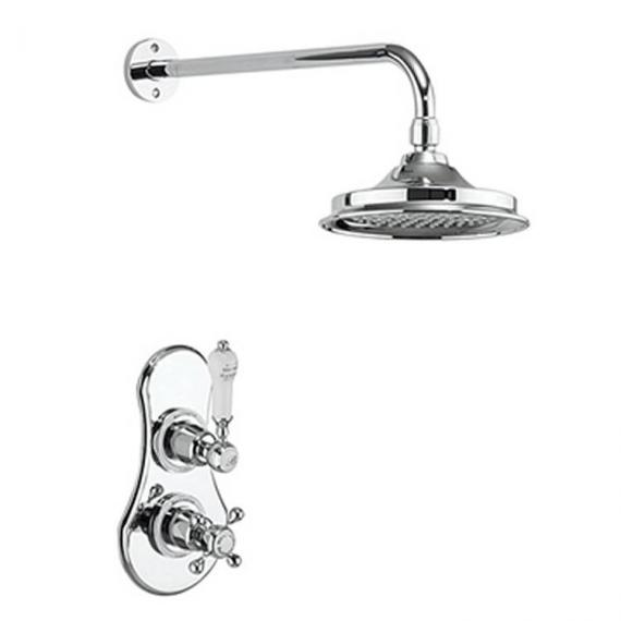 Burlington Severn Thermostatic Shower Valve & Shower Rose Pack