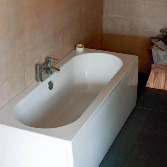 Britton cleargreen verde 1600 x 750mm double ended bath for Best bathrooms 4 u