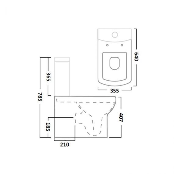 Tavistock Vibe Flush Fitting Close Coupled WC & Seat - Spec
