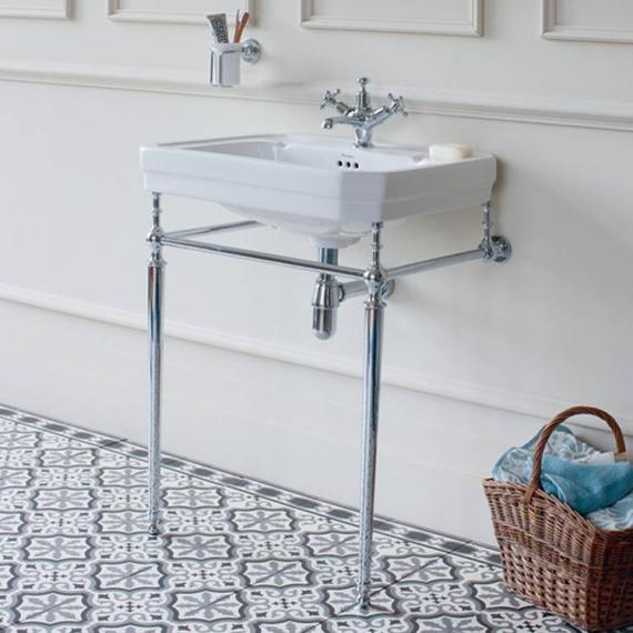 Elegant Traditional Rug And Antique White Classic Sink Cabinet With Taupe  Wall Color For Victorian Bathroom Ideas For Small Space