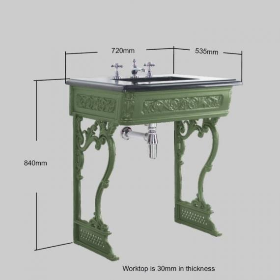 BC Designs Victrion Basin Wash Stand With Basin Specification