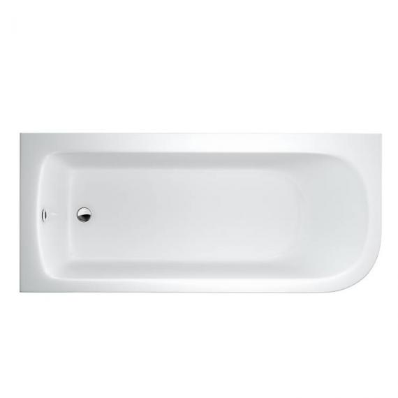 Britton Cleargreen Viride 1700mm Offset Bath - Left Hand