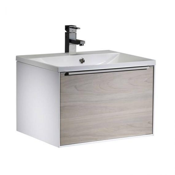 Roper Rhodes Vista White/Light Elm 600mm Wall Mounted Unit & Basin