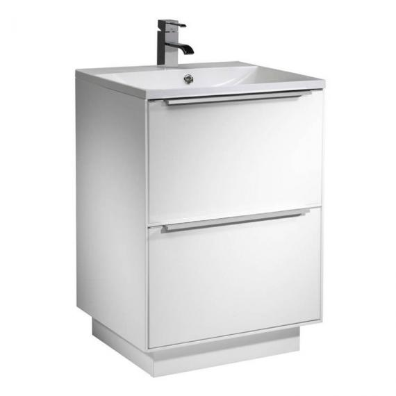 Roper Rhodes Vista Gloss White 600mm Freestanding Unit & Basin - white gloss