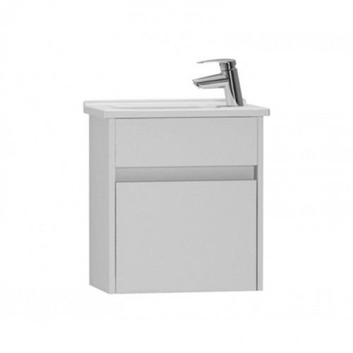 Vitra S50 500mm Gloss White Compact Single Door Vanity Unit & Basin