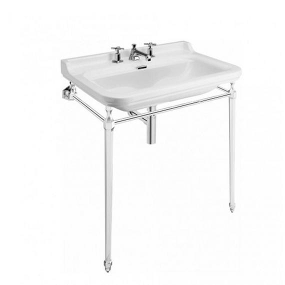 Bauhaus Waldorf 80 Three Tap Hole Basin With Console
