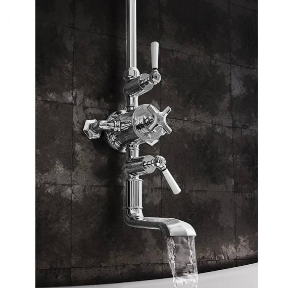 Crosswater Waldorf Thermostatic Bath Shower Mixer With Fixed Shower Head