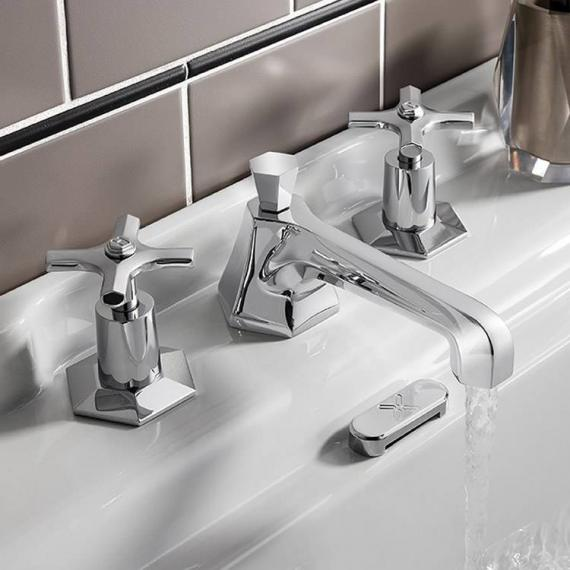 Crosswater Waldorf Chrome Crosshead Basin 3 Hole Set