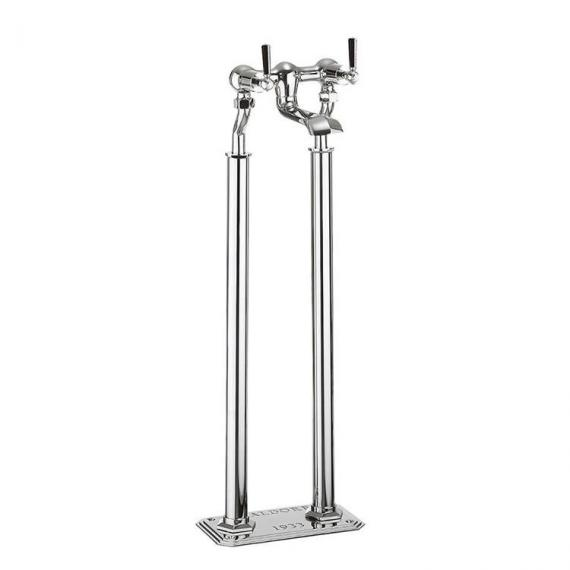 Crosswater Waldorf Black Lever Floorstanding Bath Filler
