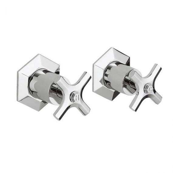 Crosswater Waldorf Chrome Crosshead Wall Stop Taps