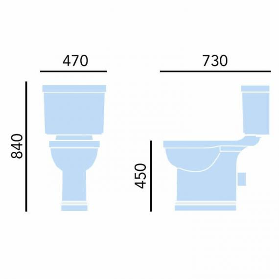 Heritage Wynwood Comfort Height Close Coupled WC & Cistern Specification