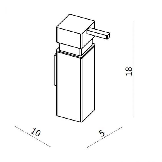 Crosswater Zest Soap Dispenser Specification