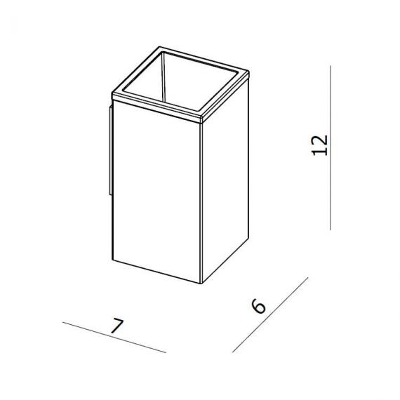 Crosswater Zest Tumbler Holder Specification
