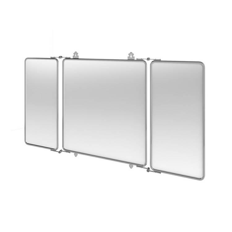 Arcade Three Fold Chrome Mirror | Victorian Bathrooms 4 U