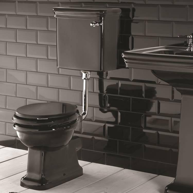 Imperial Etoile Black Low Level Pan And Cistern Low