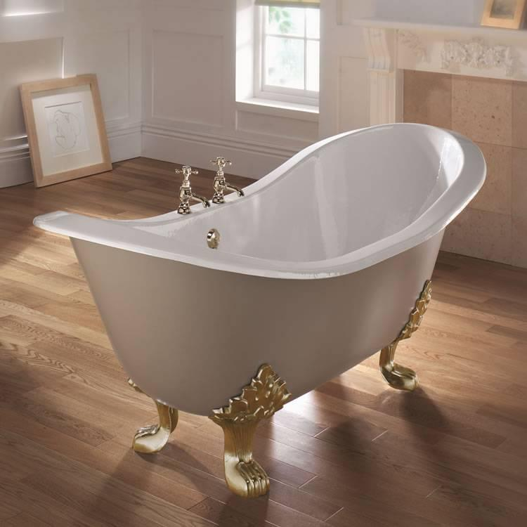 Imperial sheraton double ended cast iron slipper bath with for Best bathrooms 4 u