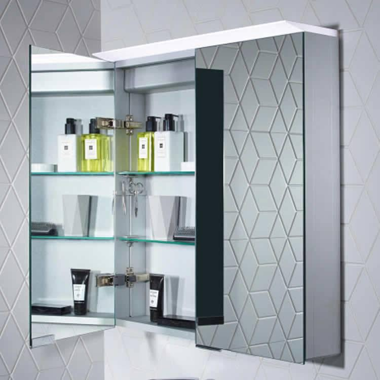 bathroom illuminated mirror cabinets roper venture led illuminated mirror cabinet 11517