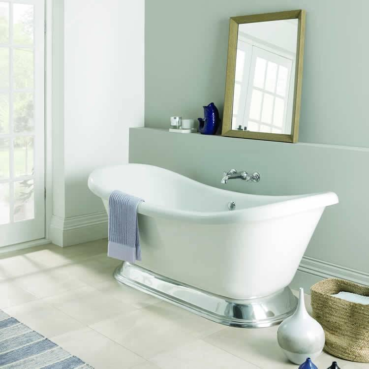 Bc designs excelsior acrylic freestanding bath with for Best bathrooms 4 u