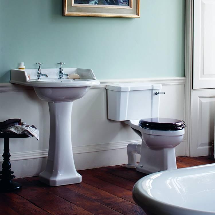 Burlington Classic Round Basin & Close Coupled Toilet Set ...