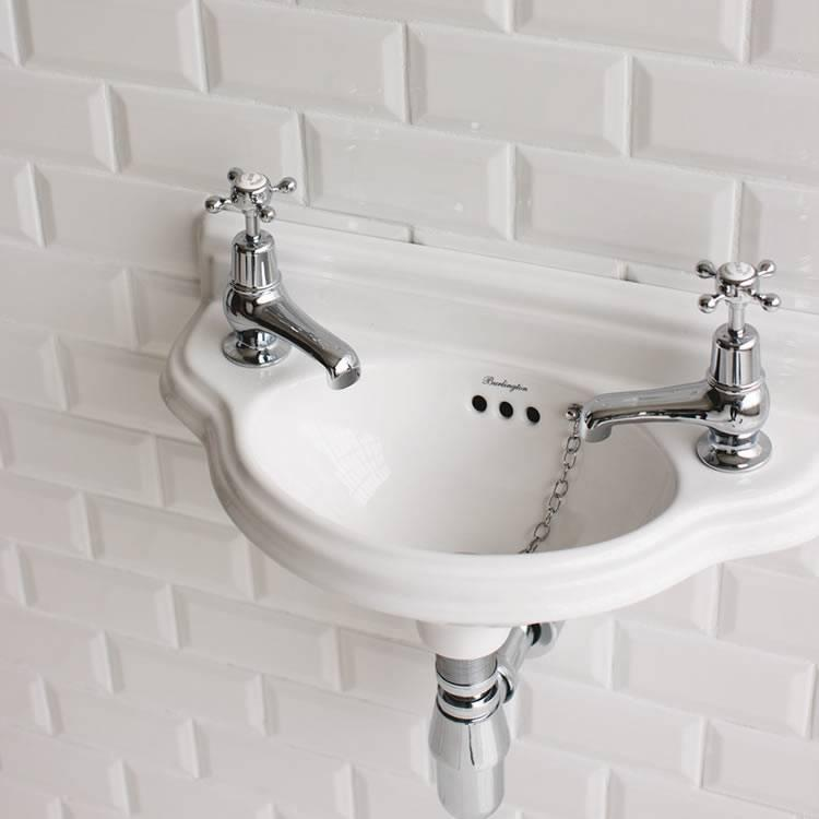 Victorian Bathrooms marble sink & top for a vanity unit Silver Taps