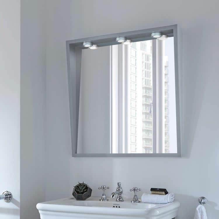 Imperial canterbury large mirror with lights victorian for Best bathrooms 4 u
