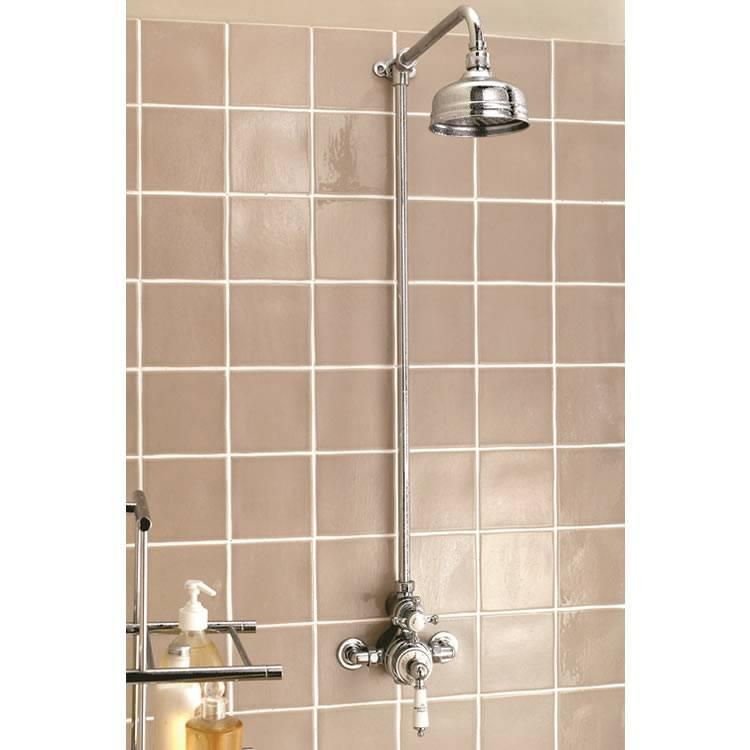 Imperial Victorian Exposed Thermostatic Shower Valve, Riser, Arm U0026 Head