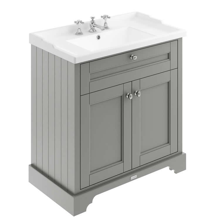 Old London 800mm Storm Grey Vanity Unit Amp Basin Vb4u